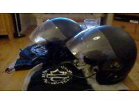2 X Harley Davidson Jet Open Face Helmets