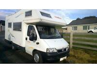 5 berth motorhome available for hire, family holidays, festivals, events, half term, halloween.