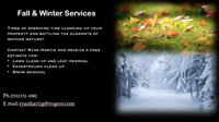 Fall and Winter Services
