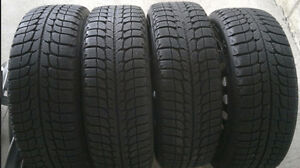 Set of 4 Michelin X-Ice snow tires on winter rims