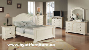 Designed Wooden Double/ Queen Bed - Deliver in GTA