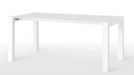MADE .COM white gloss extending dinning table
