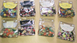NEW 8 Bag-o-buttons $ 4 each, tiny buttons $ 2