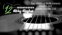 Four Guitar lessons for only $10 - Expires October 31st