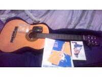 guitar , case , det new strings , tuner , book , music video