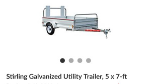 5x7 utility trailer USED ONCE