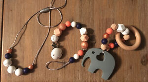 Teething accesories (made to order)
