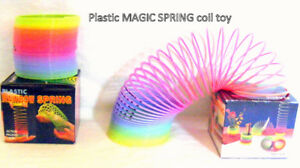 "Plastic Rainbow Magic Spring – slinky 3"", original box, like new"