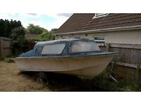 Boat For Sale - 15ft Cabin Cruiser on Trailer