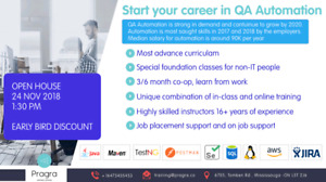 QA automation with placement assistance. OPEN HOUSE 24-NOV-2018
