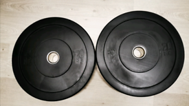 80kg Bumper Olympic Weights