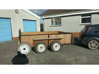 9 x 5 box small plant equipment braked trailer