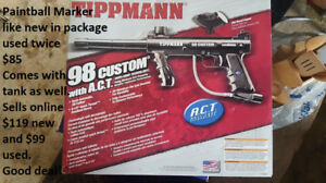 Paintball Marker (gun/hopper and tank and mask) Tippmann