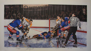 """New York Ranger fans-limited edition print """"In the Slot"""""""