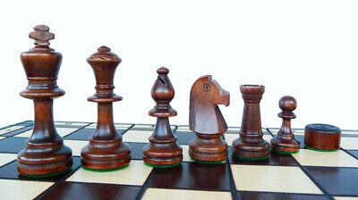 Nuevo ajedrez de madera con damas