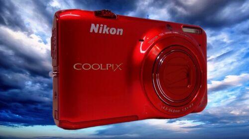 NIKON S6500 Red-12x Optical Zoom-48x Digital Zoom-Large Screen-WiFi