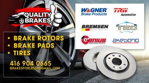 2013 GMC TERRIAN 3.6L BRAKES FRONT ROTOR & PADS