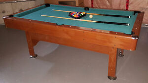 """Pool Table with balls and sticks - 45"""" X 80"""""""