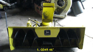 snow blower attachments for John Deere lawn tractors