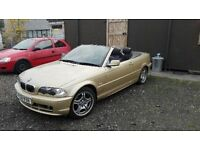 52 plate bmw 325ci. petrol convertible full year mot till 7/10/17