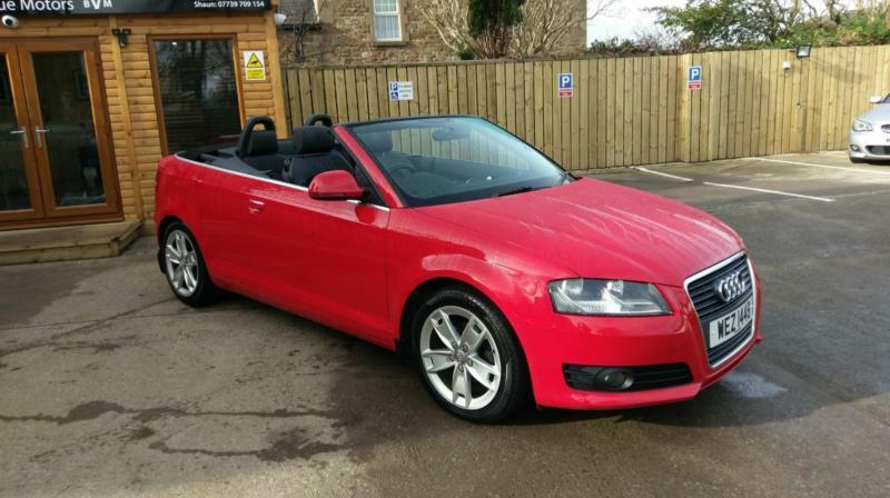 2009 audi a3 cabriolet 1 9tdi sport misano red in brampton cumbria gumtree. Black Bedroom Furniture Sets. Home Design Ideas