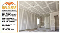 RELIABLE : Drywall Taping Services