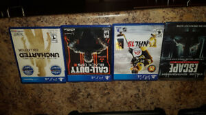 COD Black ops 3, Uncharted the collection, NHL 15, Escape plan