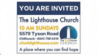 You Are Invited! - The Lighthouse Church