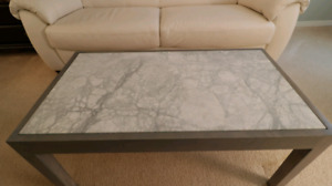 Marble and Maple coffee table