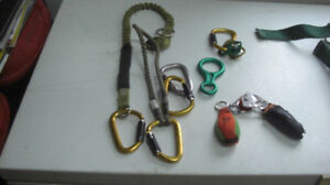 Climbing Ropes,Harness and Clamps