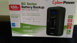 CyberPower EC Series Battery Backup with Surge Protection.