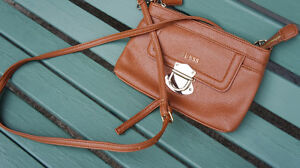 Guess Brown Leather crossbody sling bag purse