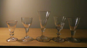 Collection of small Georgian wine glasses