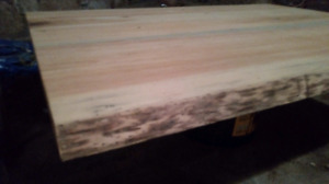 Unfinished live edge table top