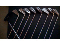 Full set of Irons 3 woods and a Tour putter