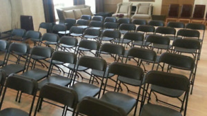 Black Plastic Folding Chairs for Sale
