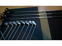 Golf clubs full set of Irons and 3 woods (with coverrs)