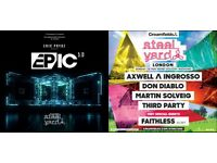 2x Weekend Tickets Steel Yard London Saturday 27th - Sunday 28th May Eric Prydz EPIC Axwell Ingrosso