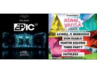 Steel Yard London Weekend Tickets Eric Prydz/Axwell & Ingrosso Saturday 27th & Sunday 28th May 2017
