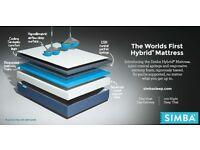 BRAND NEW small double mattress simba hybrid 120x190cm STUNNING BIG SALE NOW ON ALL EX DISPLAYS