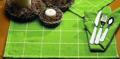 Soft Cotton Burlap Check Lime Green Placemat ()