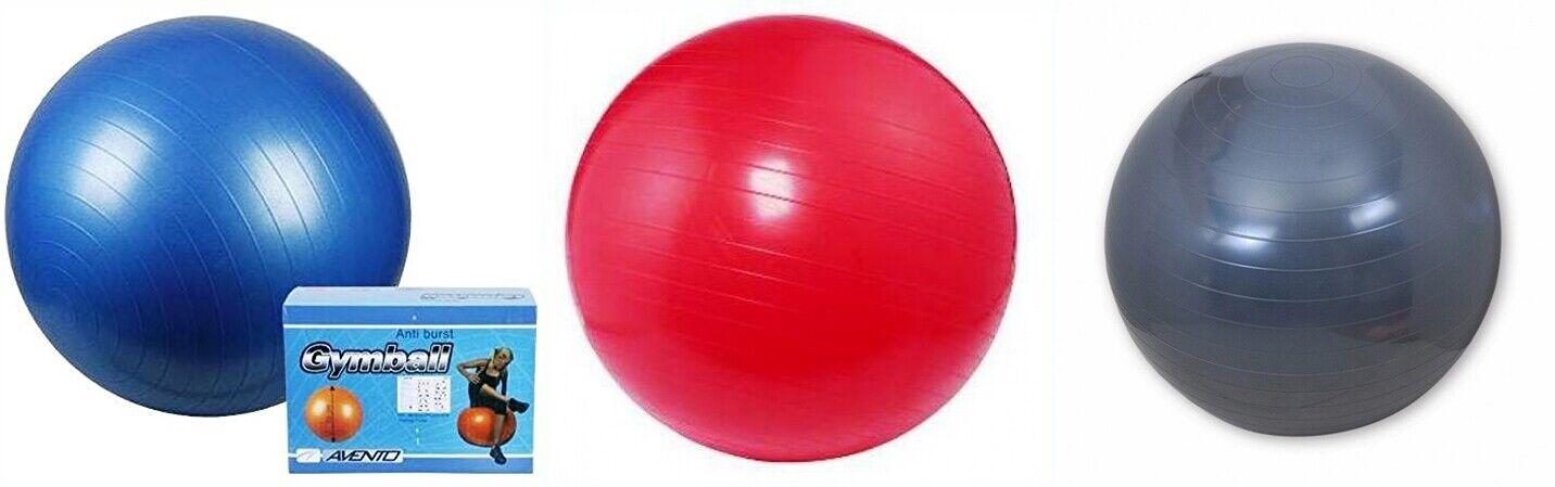 Gymnastikball Sitzball Fitness Yoga Pilates Sportball Ball +Pumpe 75 cm Neu