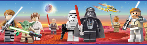 Lego star wars bord re kinder 17mtr tapetenborte for Star wars tapete kinderzimmer