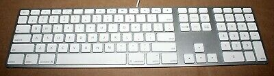 Genuine Apple A1243 USB Wired Slim English QWERTY Aluminum Keyboard