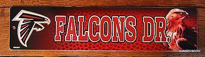 Plastic Street Sign Atlanta Falcons Drive NFL Football League Door Room Decor