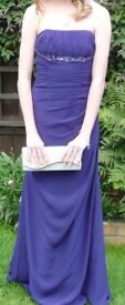 Xmas Party, Prom Dress, Brides Maid or Posh evening Dress (Strapless design full length size 8-10)