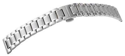 Uhrenarmband Edelstahl 24 mm VOLLMASSIV Butterfly-Schließe + Rundanstoßadapter