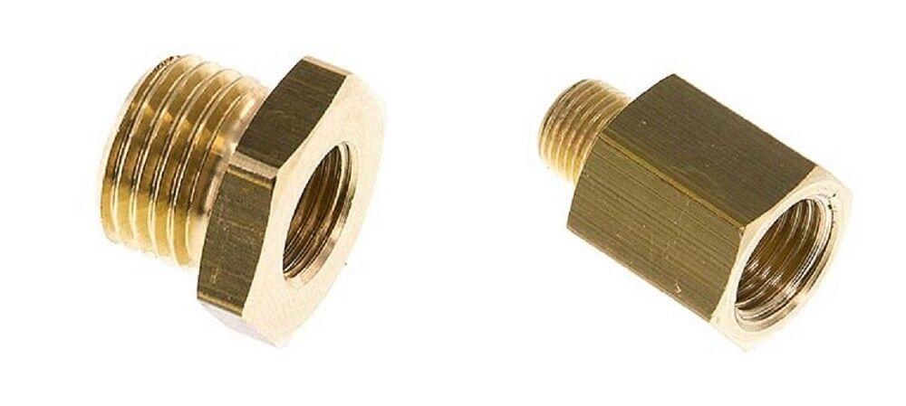 Reduziernippel Messing zylindrisches G-Gewinde außen auf innen - Größe wählbar