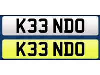 Number Plate - K33 NDO