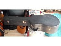 VINTAGE 60S ARCH TOP GUITAR CASE. HOFNER COMMITTEE CASE? SUIT LARGE BODIED ARCHTOP OR JUMBO GUITAR